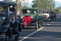 A group of Ford Model A cars from the Capistrano Valley A's car club string their way along Crown Valley Parkway on Saturday, Dec. 9, 2017, during the Laguna Niguel Holiday Parade. (Photo By Jeff Antenore, Contributing Photographer)