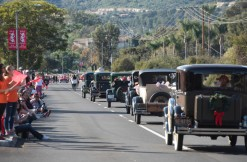 A group of Ford Model A cars from the Capistrano Valley A's car club drive their way along Crown Valley Parkway on Saturday, Dec. 9, 2017, during the Laguna Niguel Holiday Parade. (Photo By Jeff Antenore, Contributing Photographer)